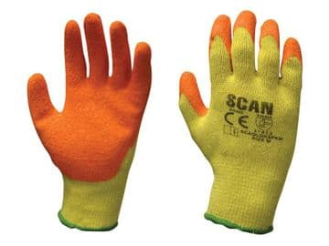 Knitshell Latex Palm Gloves - M (Size 8)